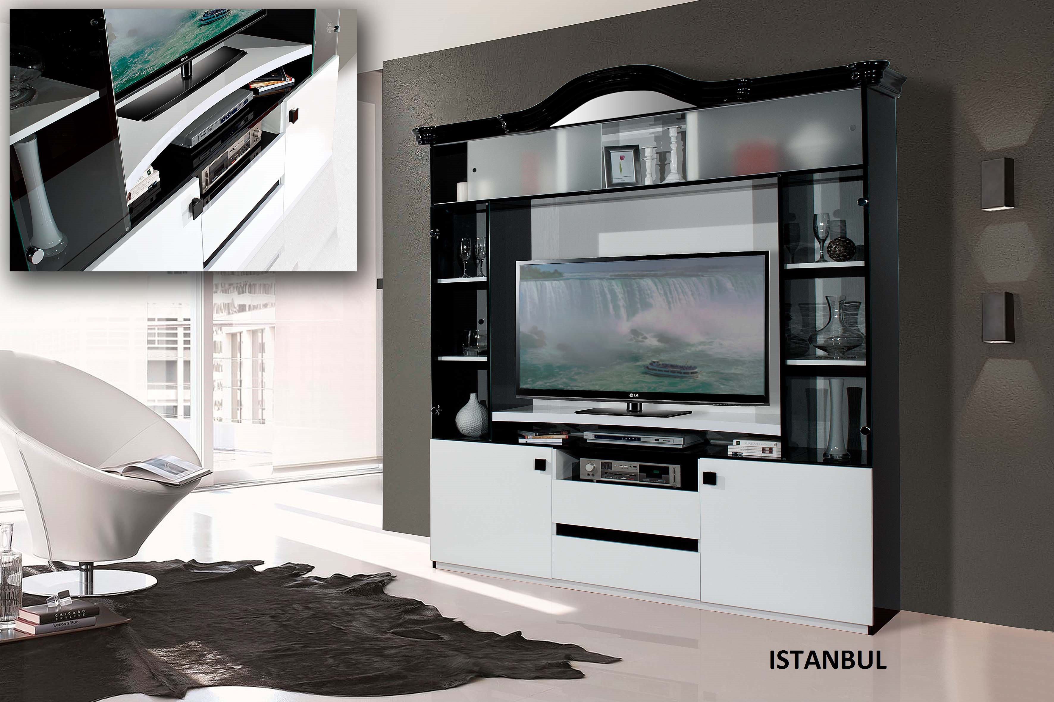 meuble tv istambul nkl meuble wassa et deco. Black Bedroom Furniture Sets. Home Design Ideas