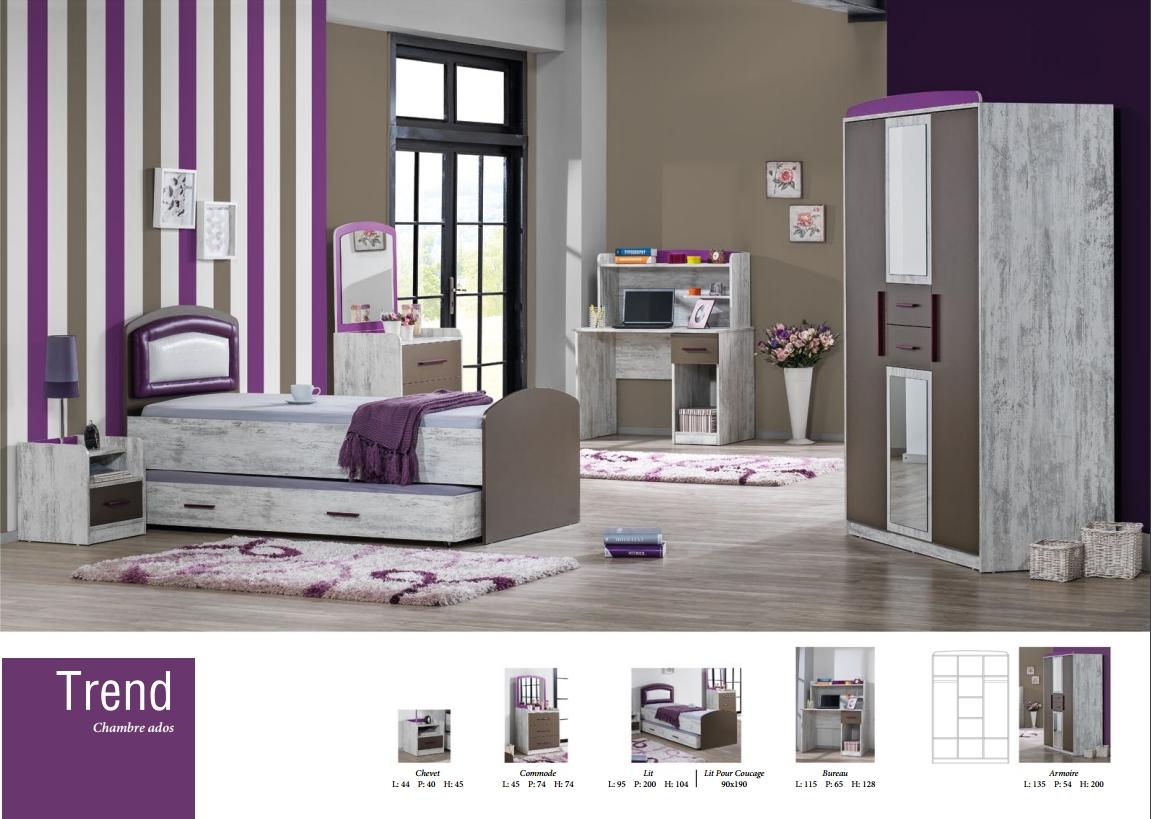 chambre enfant trend nkl meuble wassa et deco. Black Bedroom Furniture Sets. Home Design Ideas