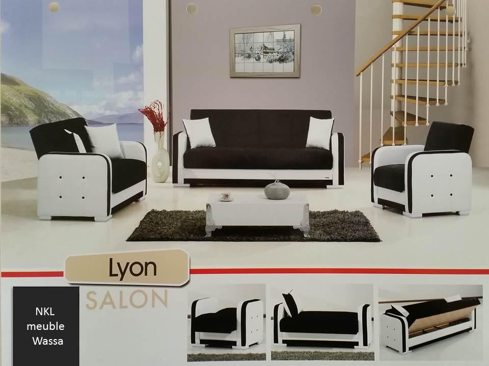salon lyon moins cher nkl meuble wassa et deco. Black Bedroom Furniture Sets. Home Design Ideas