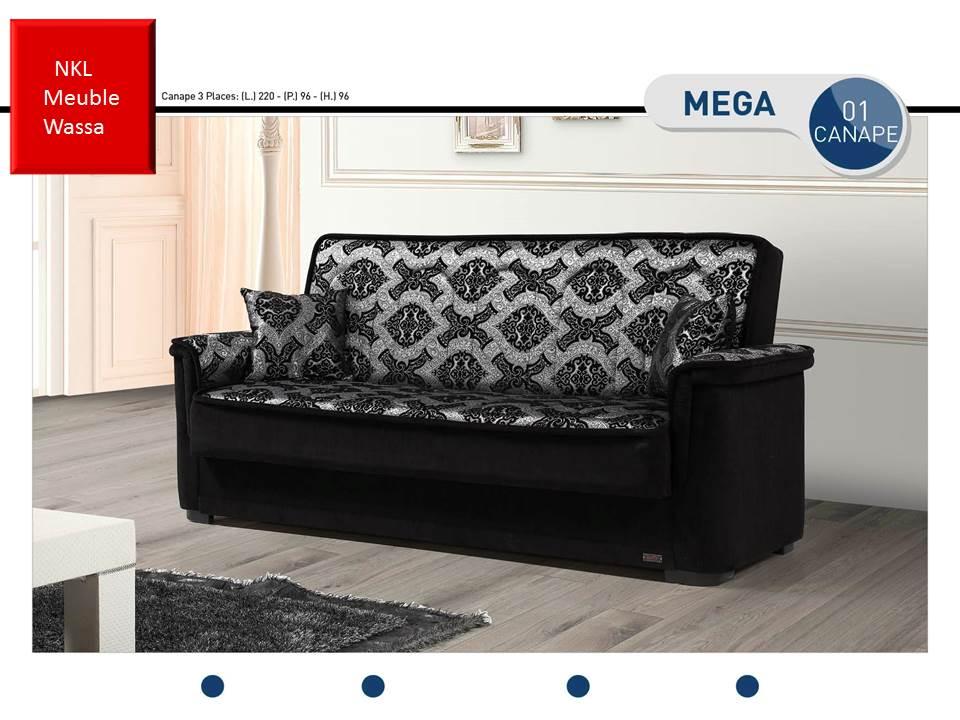 canap mega prix mini nkl meuble wassa et deco. Black Bedroom Furniture Sets. Home Design Ideas