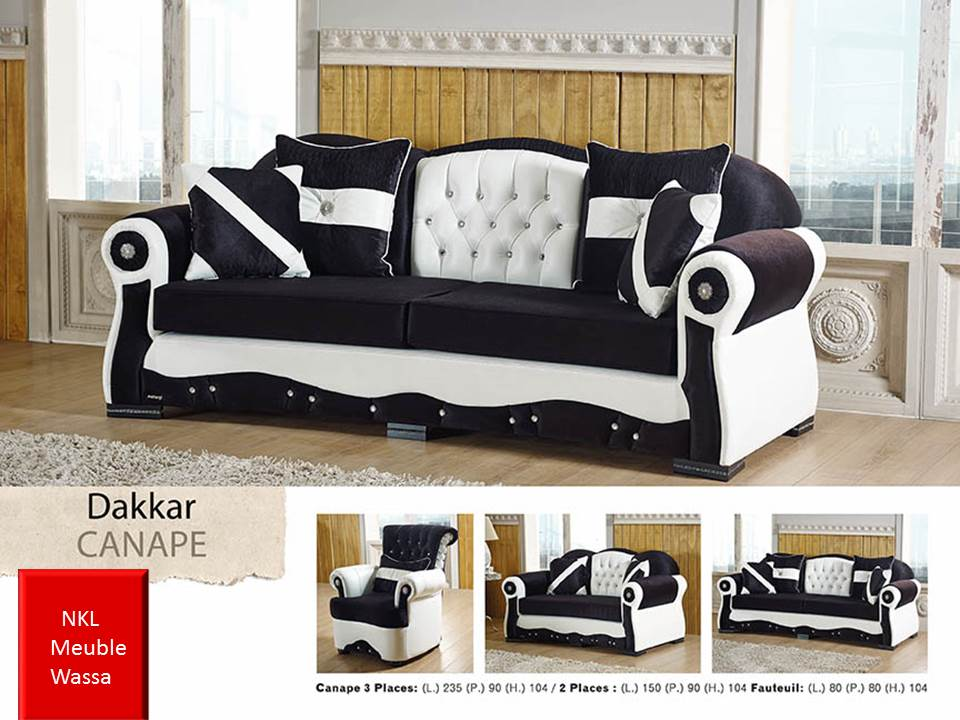 canap dakkar nkl meuble wassa et deco. Black Bedroom Furniture Sets. Home Design Ideas