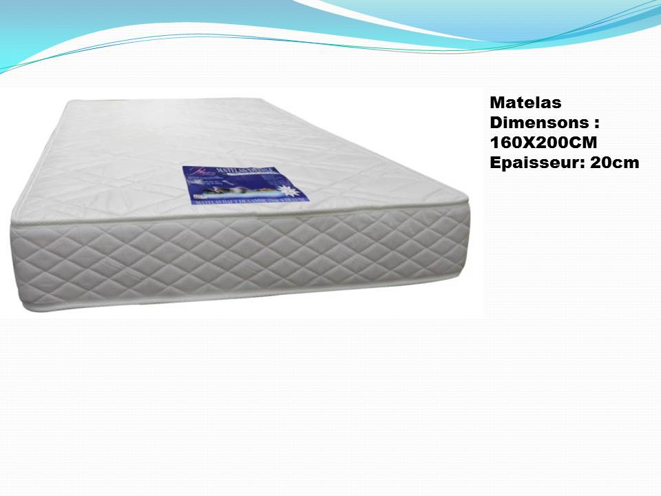 matelas 160x200 nkl meuble wassa et deco. Black Bedroom Furniture Sets. Home Design Ideas