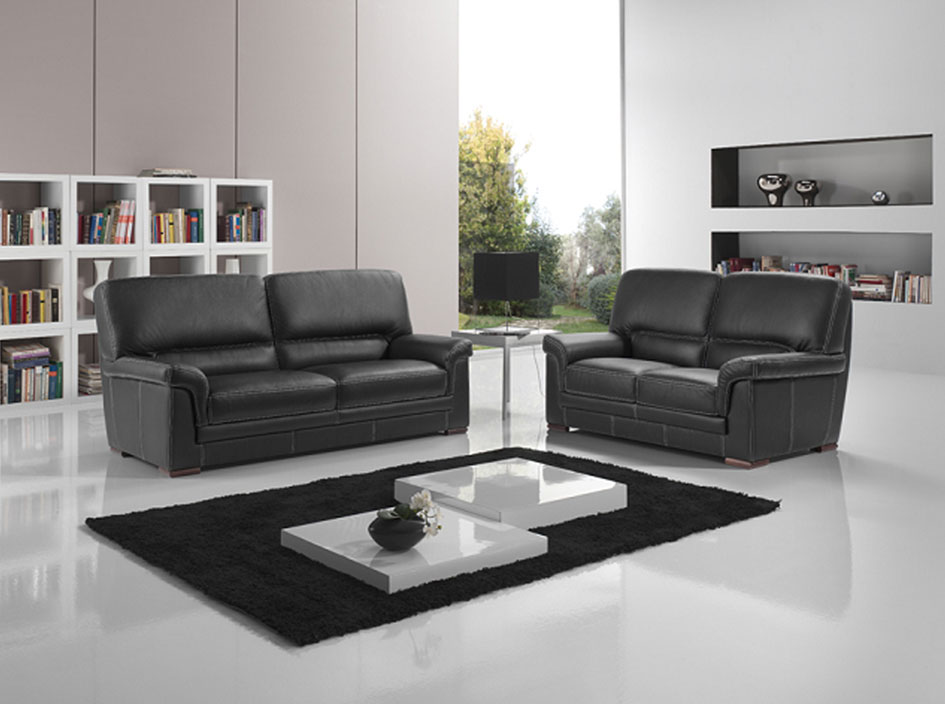 salon cuir anita nkl meuble wassa et deco. Black Bedroom Furniture Sets. Home Design Ideas