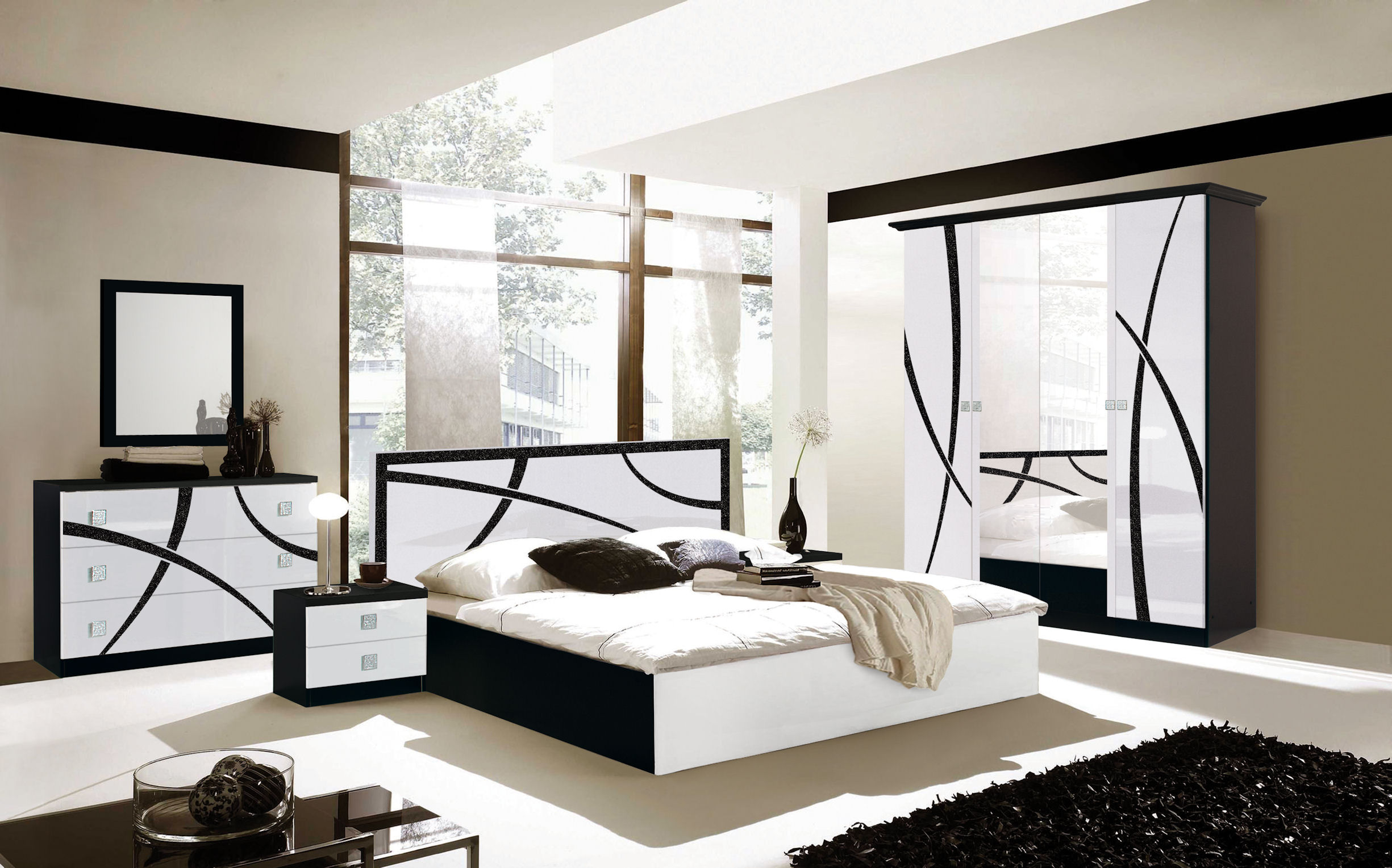 chambre milano nkl meuble wassa et deco. Black Bedroom Furniture Sets. Home Design Ideas