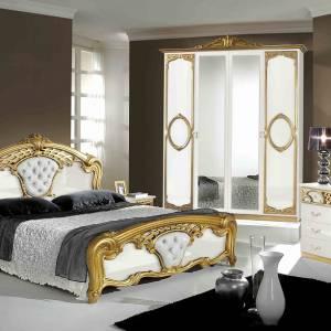 Chambre Sibilla blanc doré