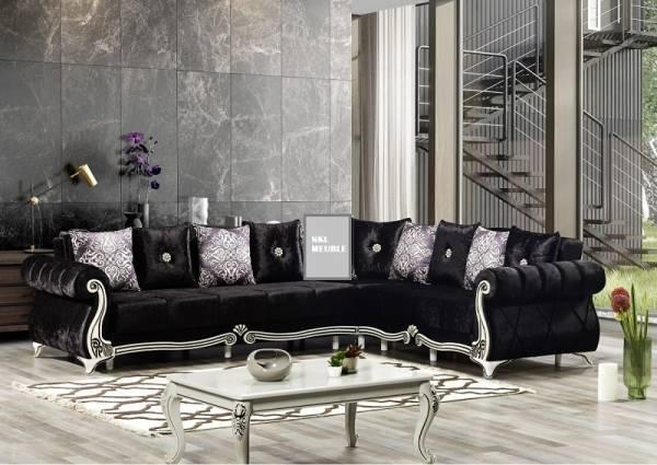 Canapé d'angle Alger noir